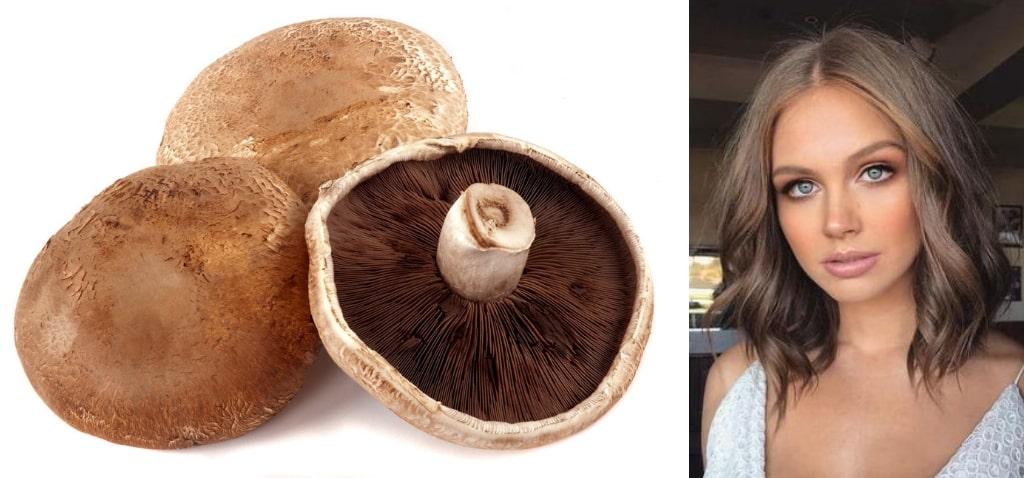 Волосы грибного цвета