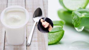 йогурт на волосы