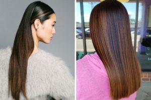 Советы для блестящих и прямых волос