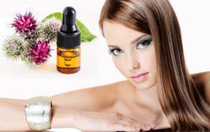 Репейное масло для стимуляции роста волос